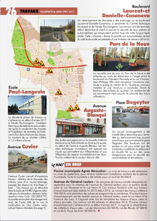Travaux en cours à Villepinte (93)