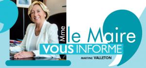 Madame Le Maire vous informe