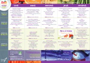Exemples de menu de cantine à Villepinte