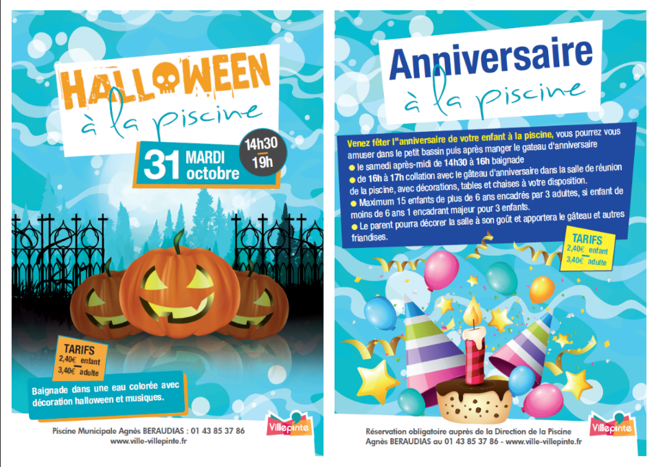 Halloween & Anniversaire à la piscine - Villepinte