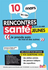 Rencontres santé -Jeunes aux Espaces V Roger-Lefort - vendredi 10 mars 2017 de 9 à 16 heures