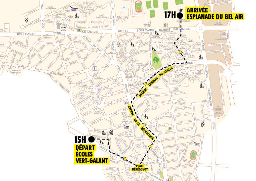 Parcours du Yellow Carnaval de Villepinte
