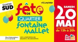 Fête de quartier de Fontaine Mallet à Villepinte, samedi 20 mai de 15 à 20 heures