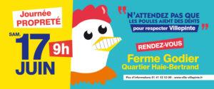 Journée de la propreté 17 juin dès 9 heures à Villepinte