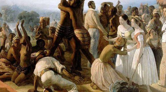 Illustration de l'abolition de l'esclavage