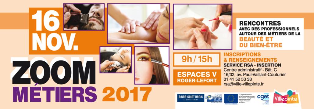 Zoom métiers du 16 novembre 2017 à Villepinte (93)