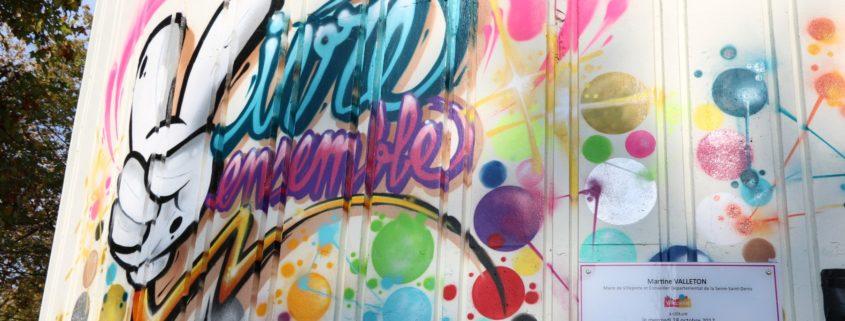Fresque à Fontaine Mallet à Villepinte par TWE Crew