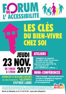Forum accessibilité, les clés du bien-vivre chez soi, 23 nov 2017