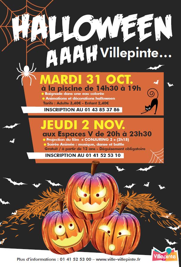 Halloween à Villepinte Halloween à Villepinte à la piscine et en soirée