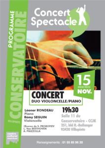 concert duo violoncelle piano