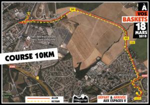 Parcours des 10kms d'À vos baskets - 18 mars - Villepinte