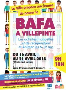 Stage Bafa à Villepinte du 16 au 21 avril 2018