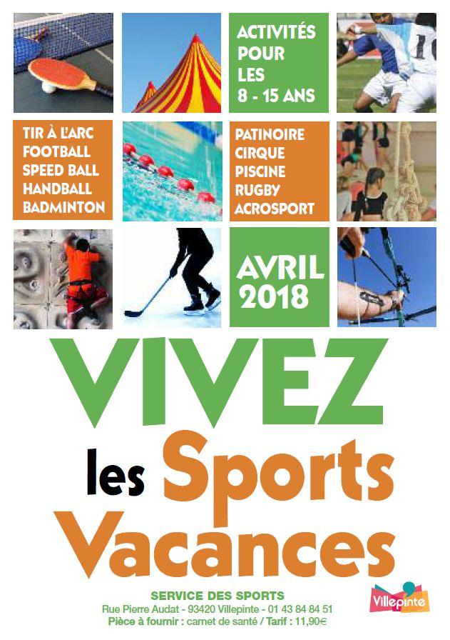 Sports Vacances d'Avril 2018 à Villepinte