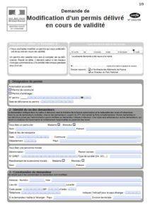 Formulaire n°13411 Permis de construire modificatif