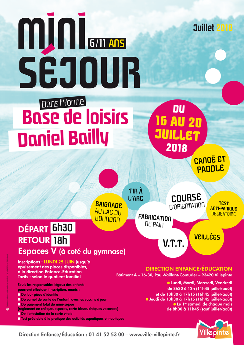 mini-séjour à Mery-sur-seine dans l'Aube pour les villepitnosi de 6-11 ans