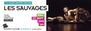 """Spectacle de danse """"Les Sauvages"""" au CCJK samedi 22 septembre 2018"""