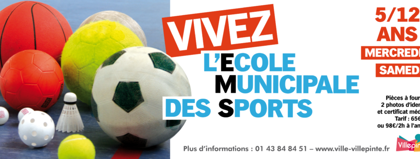 Inscrivez-vous à l'Ecole Municipale des Sports