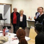 """Vendredi 21 septembre, Martine Valleton, Maire de Villepinte, a rencontré les jeunes du dispositif """"Engagement citoyen"""" de Villepinte"""