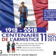100ème anniversaire de l'armistice de la grande guerre 1914-1918.