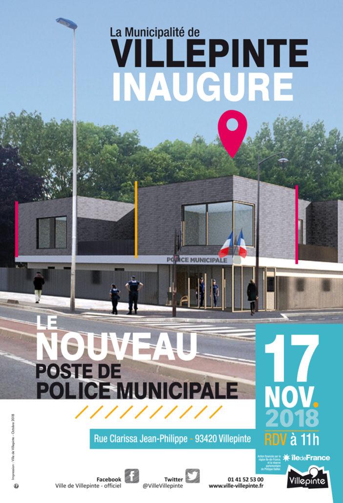 Inauguration du poste de Police Municipale à Villepinte, samedi 17 novembre