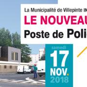 Inauguration du poste de Police Municipale de Villepinte, samedi 17 novembre 2018 à 11 heures