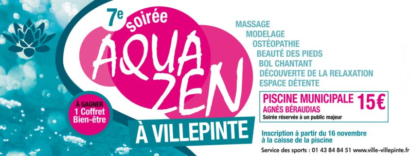 Soirée Aquazen à la piscine municipale de Villepinte, vendredi 23 novembre 2018