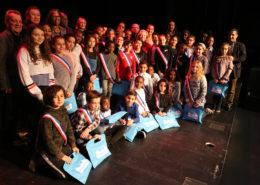 les nouveaux élus du Conseil Municipal des Enfants (CME) aux Espaces V de Villepinte lundi 10 décembre 2018