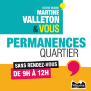 Permanences Quartier de Martine Valleton, Maire de Villepinte (93)
