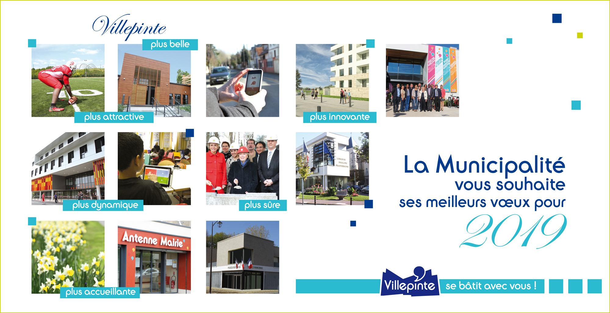 Martine Valleton, Maire de Villepinte (93) et son équipe municipale vous souhaite une très bonne année 2019 !