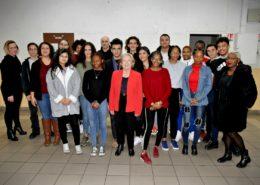 Dispositif engagement citoyen session 2018-19 : les 17 jeunes avec Martine Valleton, maire de Villepinte (93)