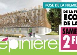 Pose la 1ère pierre de la future école de la Pépinière à Villepinte (93)