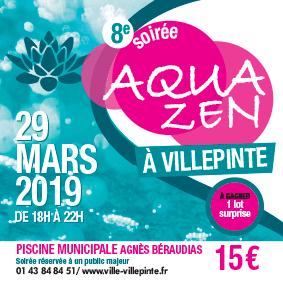 Soirée Aquazen vendredi 29 mars à la piscine municipale de Villepinte