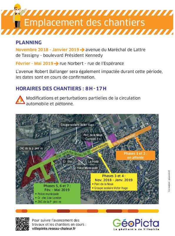 Travaux de développement du réseau de chaleur à Villepinte (93)