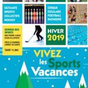 Programme des Sports Vacances du 25 février au 1er mars et du 4 mars au 8 mars 2019 dans la ville de Villepinte (93)