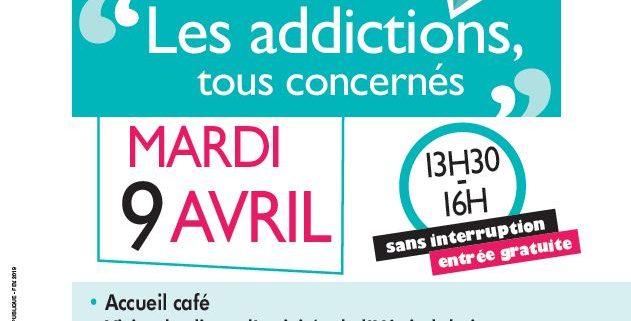Atelier PIE sur les addictions mardi 9 avril 2019 / Villepinte (93)