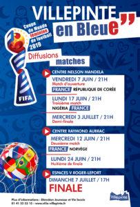 retransmission des matchs de la coupe du monde féminin de football