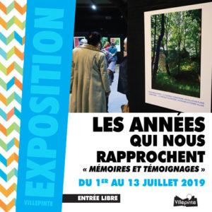 """Du 1 er juillet au 13 juillet a lieu l'expo """"Les années qui nous rapprochent """"Mémoires et témoignages"""" dans le hall du Centre Culturel Joseph Kessel."""