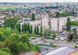 Vue aérienne du quartier du Parc de la Noue à Villepinte (93)