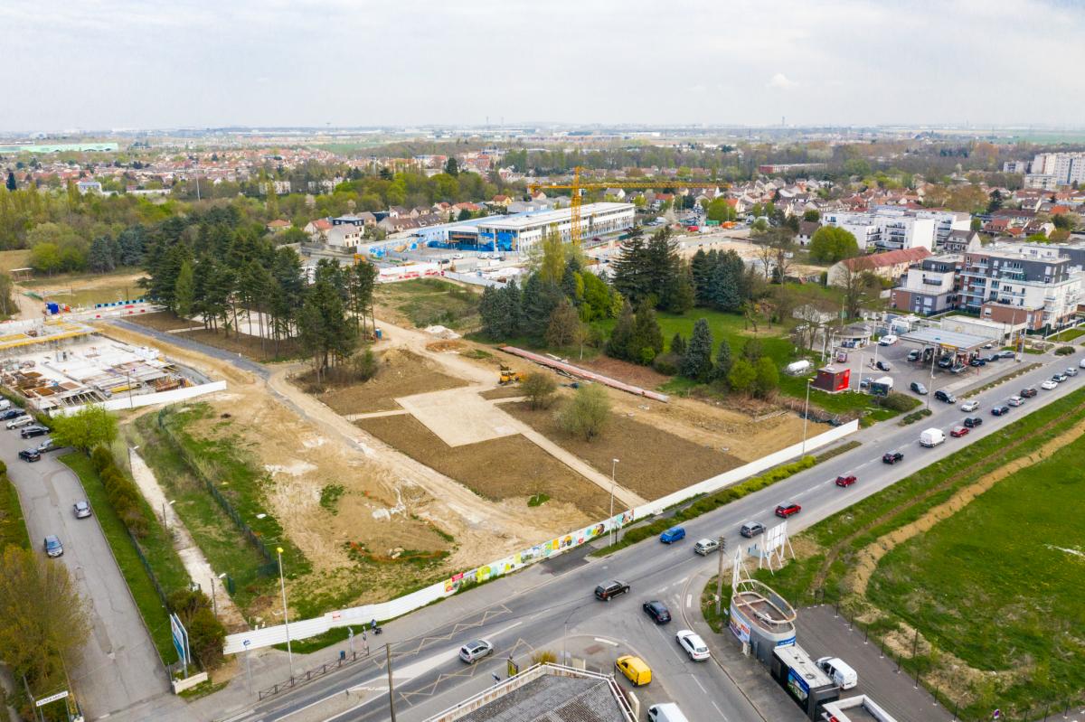 Vue aérienne du futur écoquartier de la Pépinière à Villepinte @DR