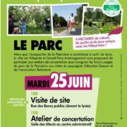 Visite de la pépinière et atelier de concertation pour les futurs aménagements du parc de la Pépinière