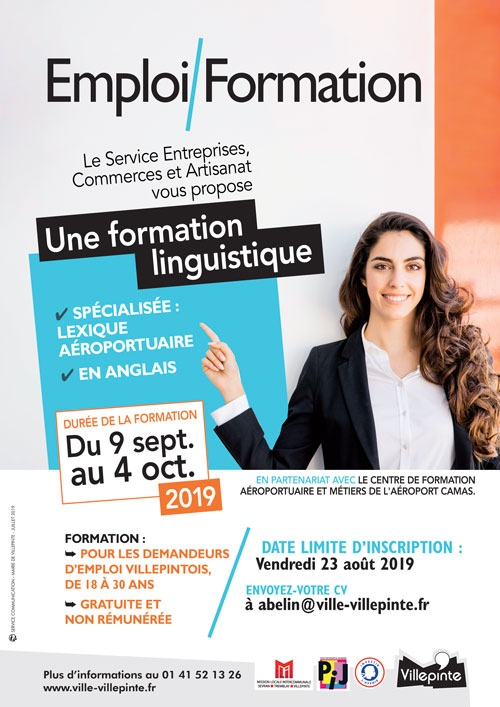 Villepinte propose une formation linguistique du 9 septembre au 4 octobre 2019