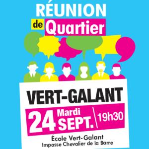 Réunion de quartier du Vert-Galant mardi 24 septembre à Villepinte