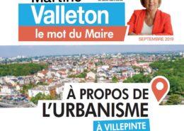 Mot du Maire, Martine Valleton, sur l'Urbanisme à Villepinte - Septembre 2019