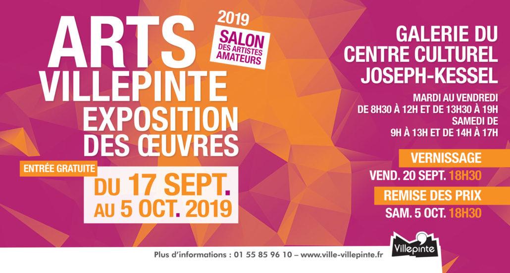 Salon Arts Villepinte du 17 septembre au 5 octobre 2019 dans la galerie du Centre Culturel Joseph Kessel de Villepinte (93)