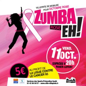 Zumba rose vendredi 11 octobre 2019 au profit de la Ligue Contre le Cancer