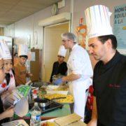 Journée spéciale à l'école Victor Hugo avec la venue du chef Marc Souton pour la 30ème édition de la Semaine du Goût 2019 à Villepinte (93)