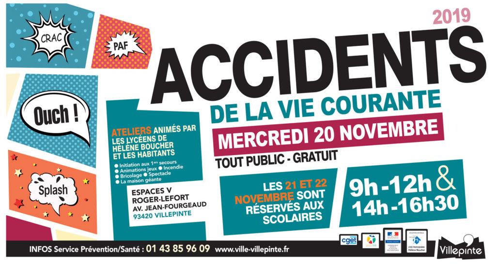 Forum des accidents de la vie courante mercredi 20 novembre aux Espaces V de Villepinte (93)