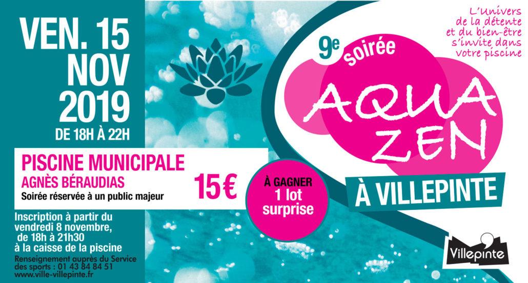 Aquazen du 15 novembre 2019 à la piscine municipale de Villepinte