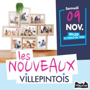 Accueil des Nouveaux villepintois samedi 9 novembre 2019 à partir de 9h30 à l'Hôtel de Ville
