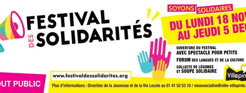 Festival des solidarités à Villepinte du 18 novembre au 5 décembre 2019 au